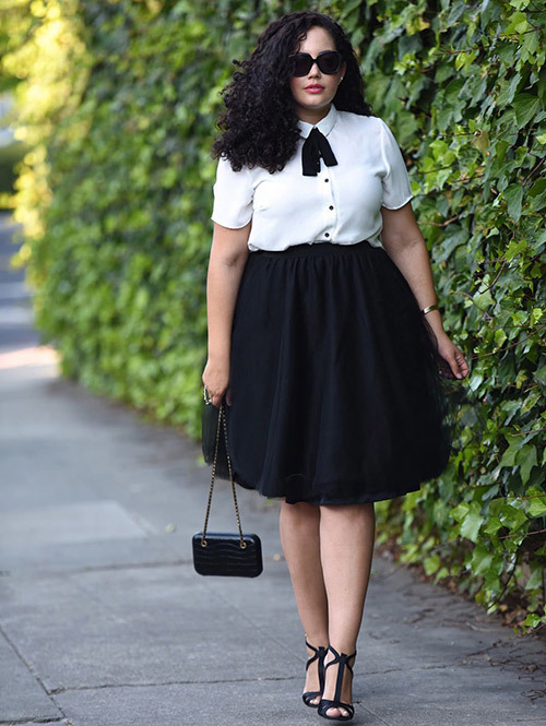 Plus Size office Black Outfits