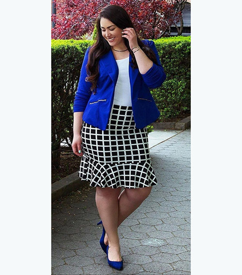Plus Size office Blazer Outfits