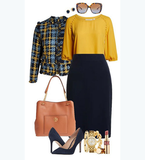 Plus Size office Fall Outfits