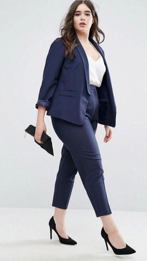 Plus Size office High Waisted Outfits