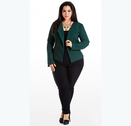 Simple Plus Size office Outfits