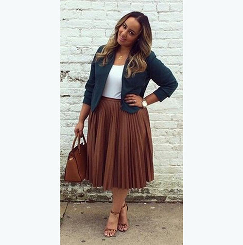 Stylish Plus Size office Outfits