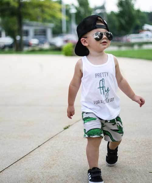 Toddler Boy Summer White Outfits