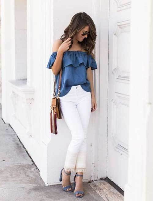 Trendy Off Shoulder Outfit Ideas