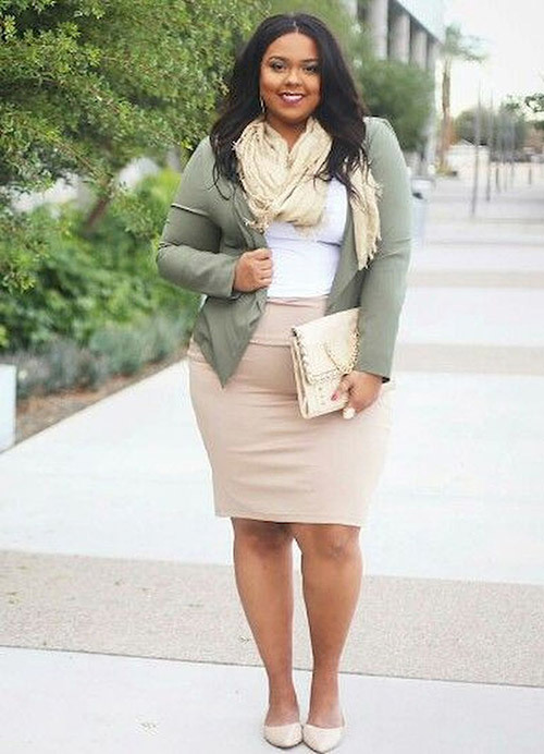 Trendy Plus Size office Outfits