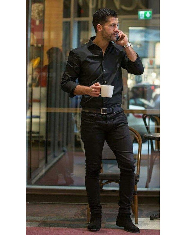 Business Casual Black Outfits Men