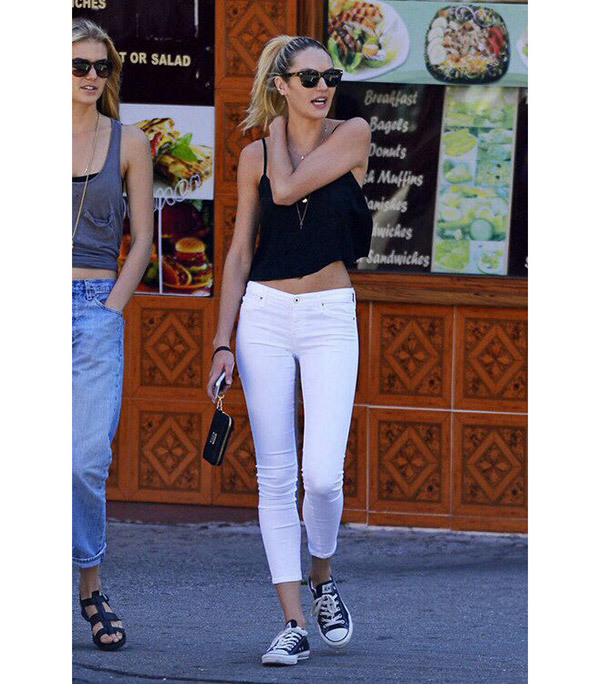 Candice Swanepoel Celebrity Casual Outfits