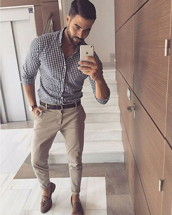 Checkered Business Casual Outfits Men