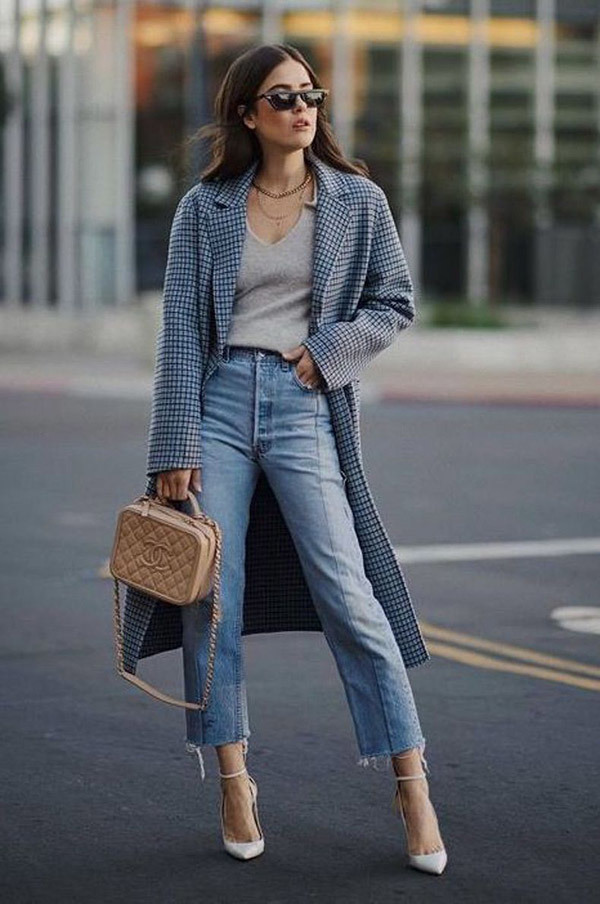 Cropped Jeans Fashion