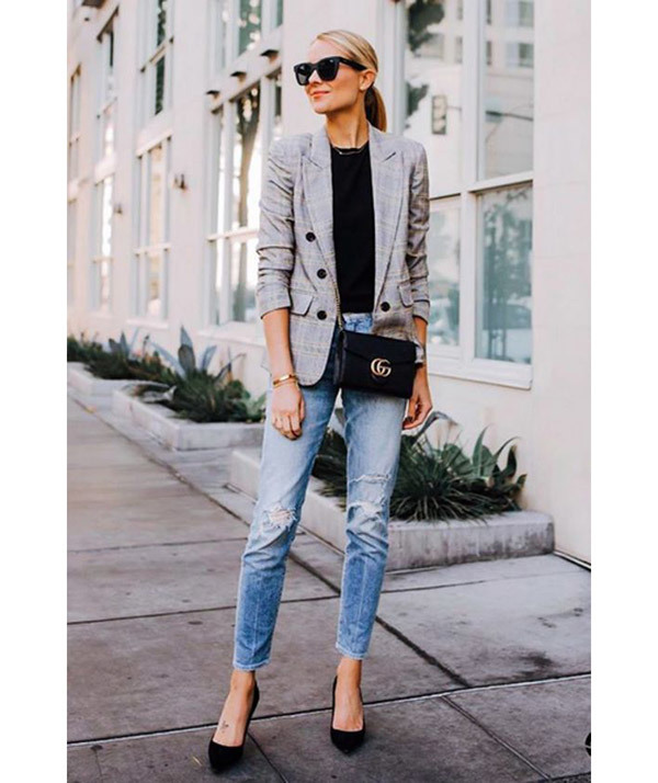 Cropped Jeans Office Outfits