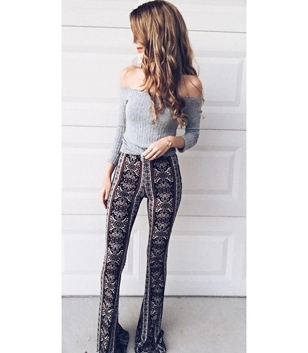 Cute Flare Pants Outfits