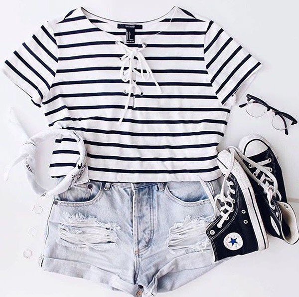 Cute Summer Vacation Outfits