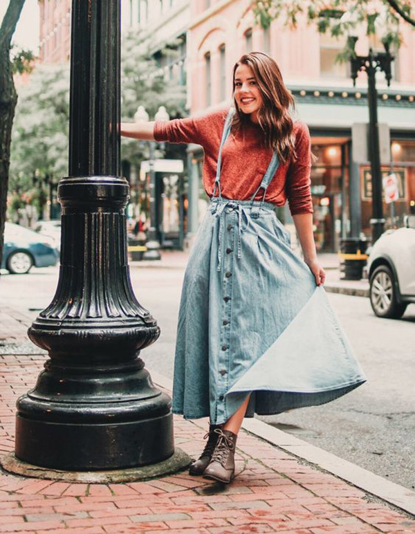 Denim Skirt Outfit Ideas