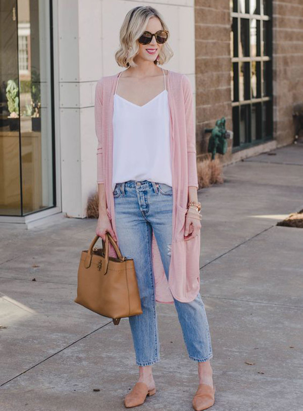 Distressed Cropped Jeans Outfits