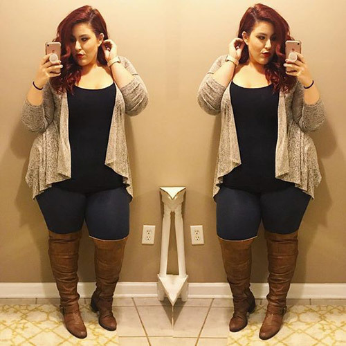 Lovely Plus Size Fall Outfits