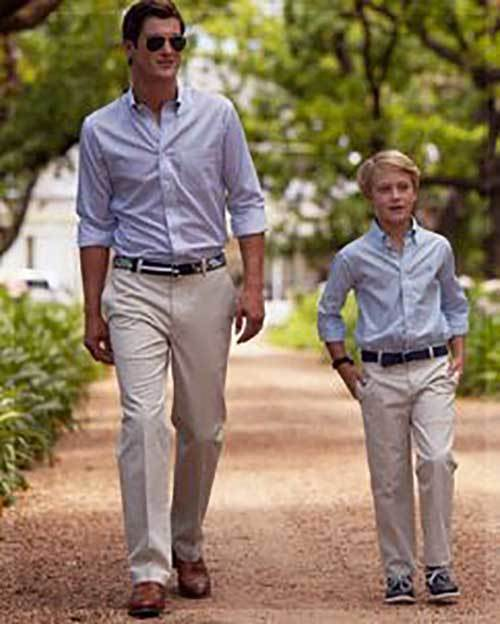Father Son Matching Preppy Outfits