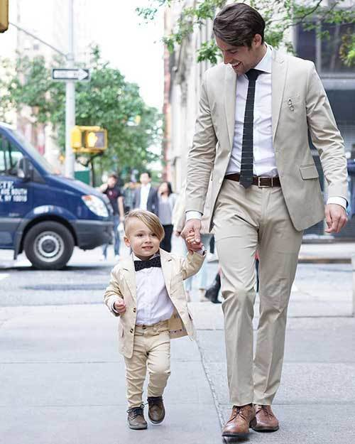 Father Son Matching Suit Outfits