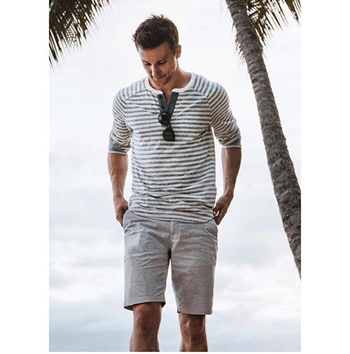 Mens Casual Summer Gentleman Outfits