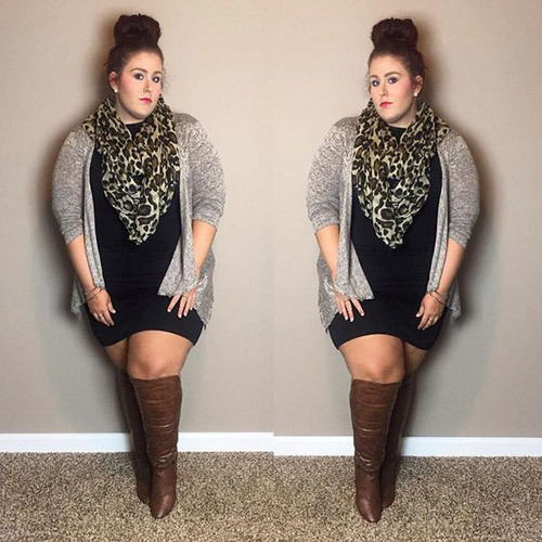 Plus Size Fall Dress Outfits