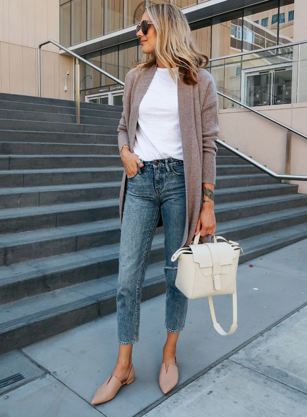Stylish Cropped Jeans Outfits
