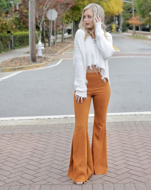 Wide Leg Flare Pants Outfits