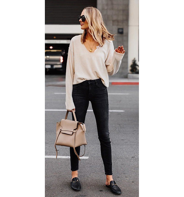 Black Jeans Outfits for Fall