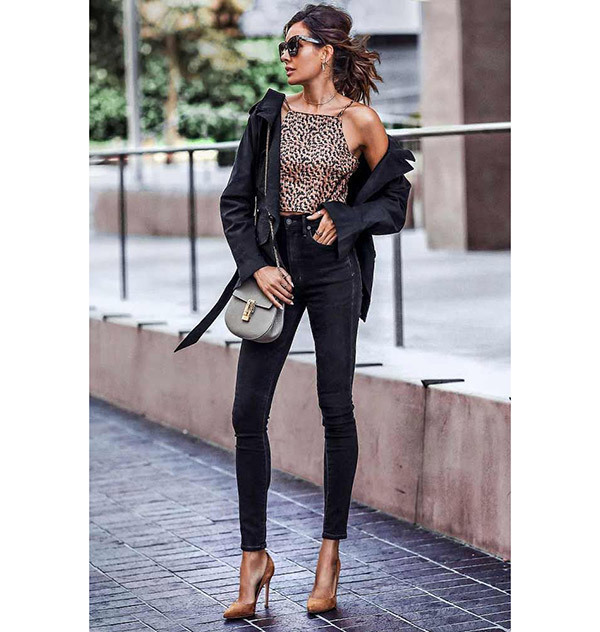 Black Jeans Outfits for Spring