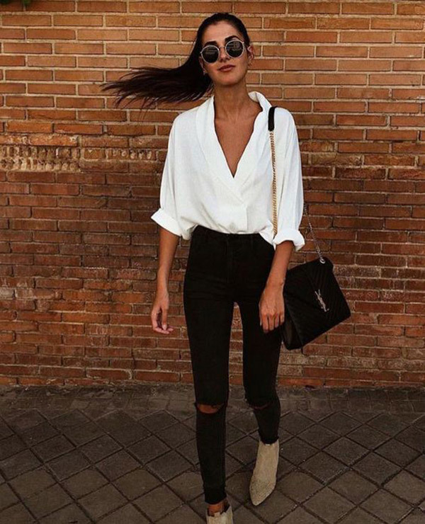 Business Black Jeans Outfits