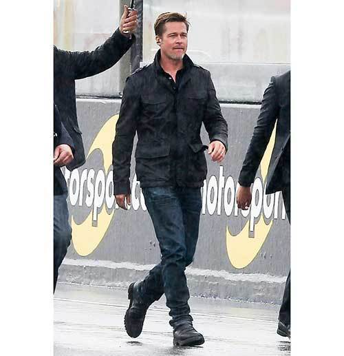 Brad Pitt Black Outfits