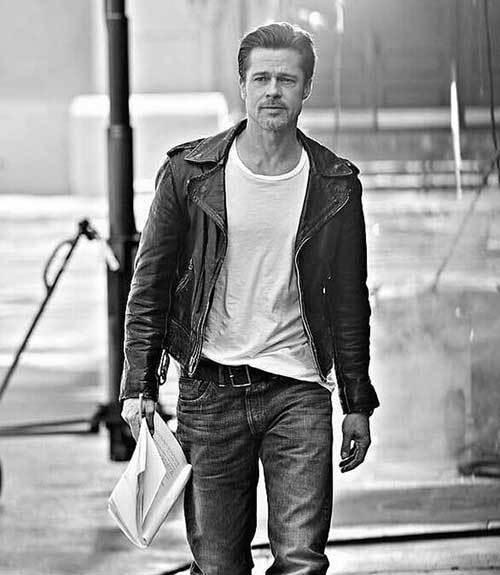 Brad Pitt Jacket Outfits