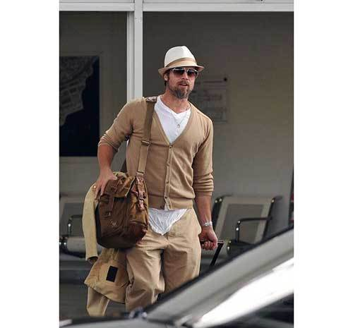 Brad Pitt Vacation Outfits