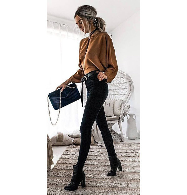 Classy Black Jeans Outfits