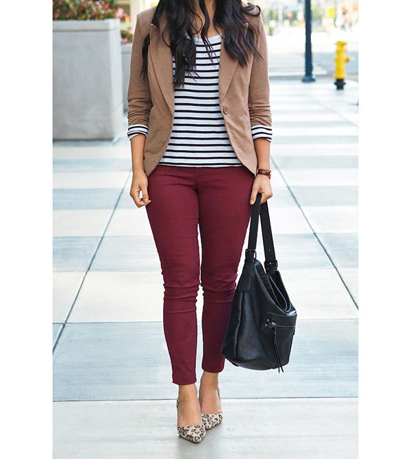 Business Outfits with Blazer Jacket