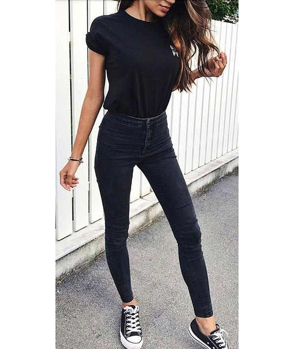 Cute Black Jeans Outfits