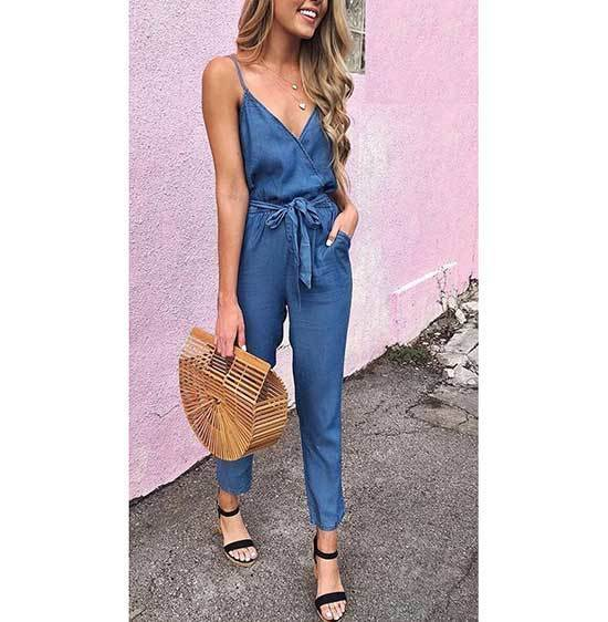 Denim Jumpsuit Outfits