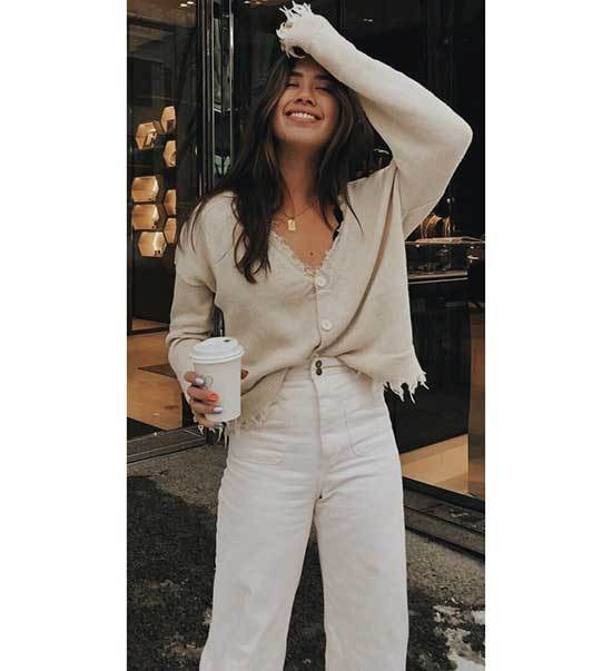 Fall White Outfit Ideas