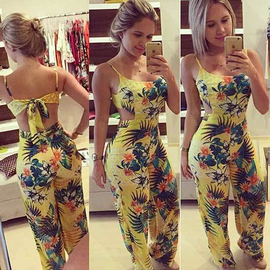 Floral Jumpsuit Outfits