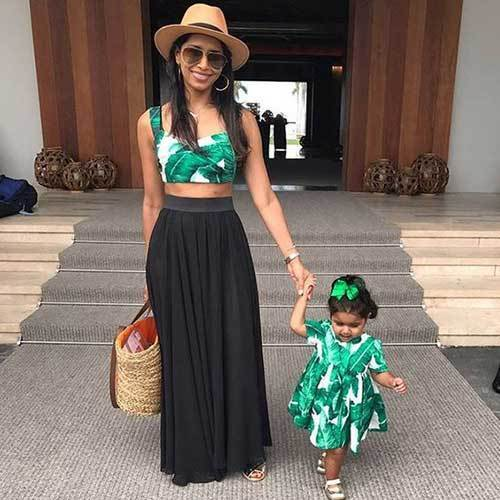 Matching Family Maxi Dress Outfits
