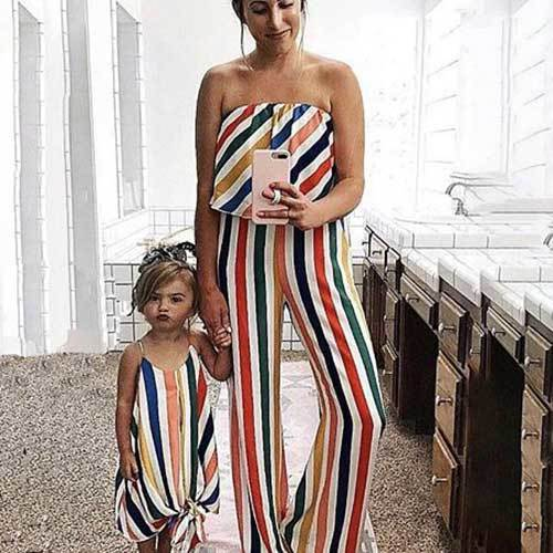 Matching Family Outfits for Mom and Daughter