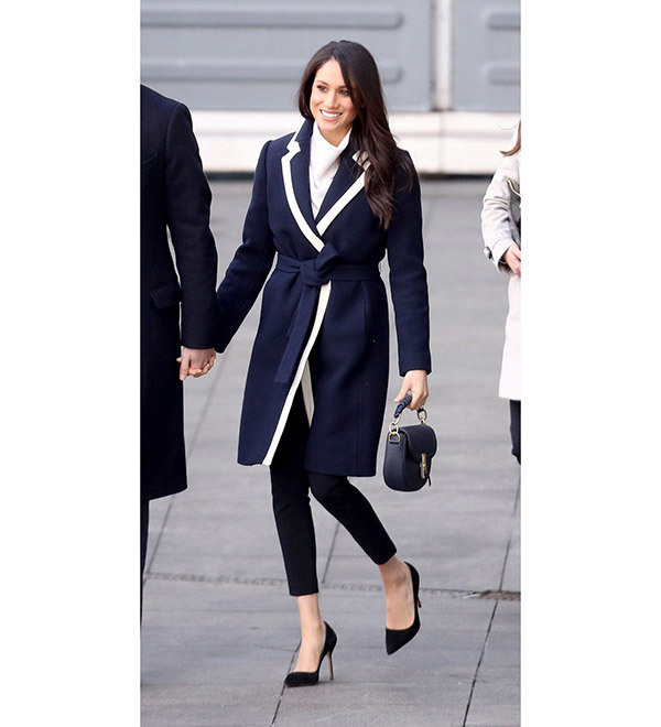 Meghan Markle Navy Coat Outfits