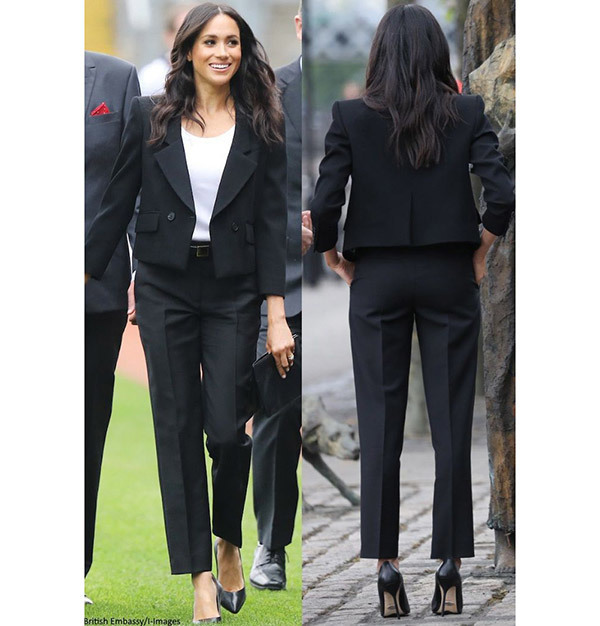 Meghan Markle Black Suit Outfits