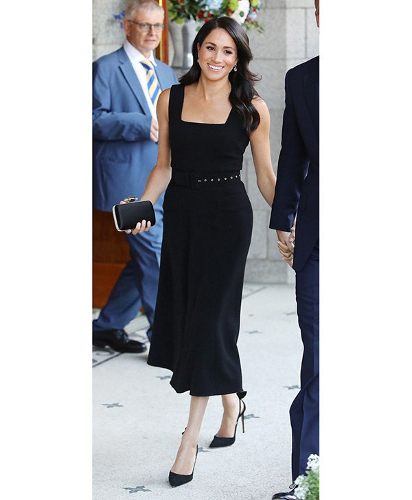Meghan Markle Black Dress Outfits