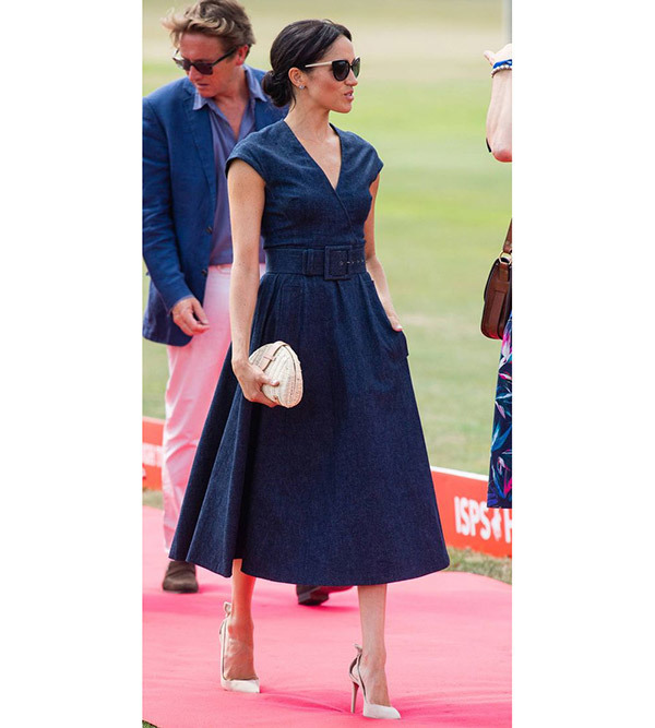 Meghan Markle Denim Dress Outfits