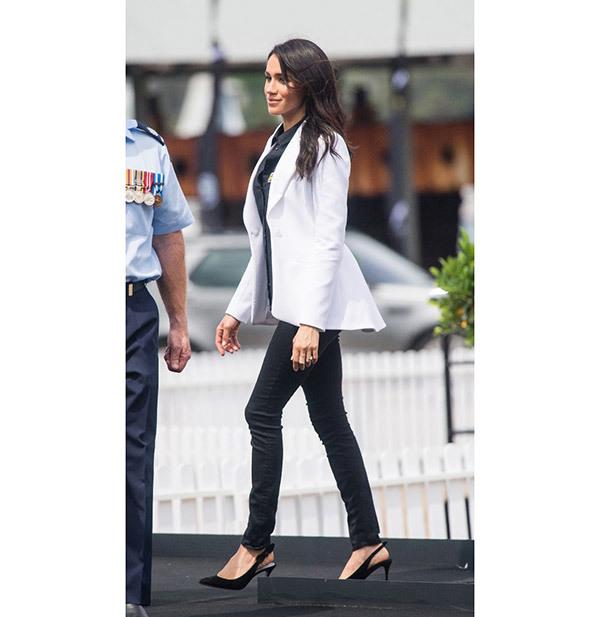 Meghan Markle White Blazer Outfits