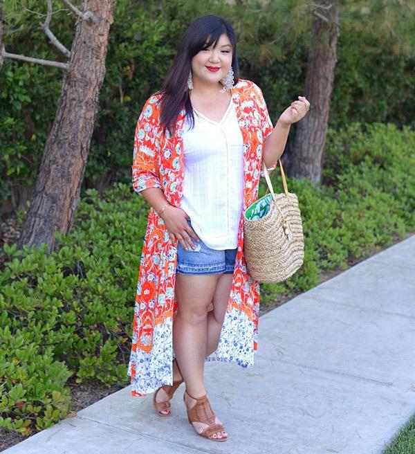 Plus Size Summer Kimono Outfits