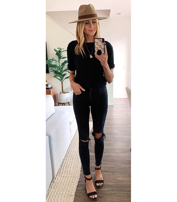 Black Jeans Outfits for Summer