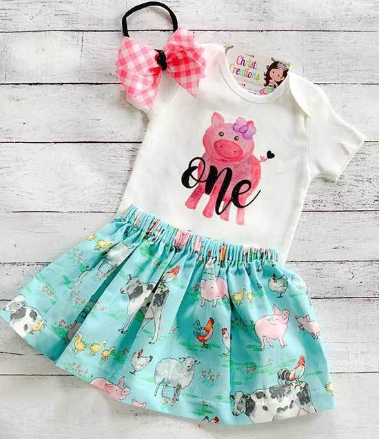 First Birthday Skirt Outfits