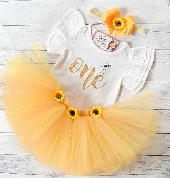 Bumble Bee First Birthday Outfits