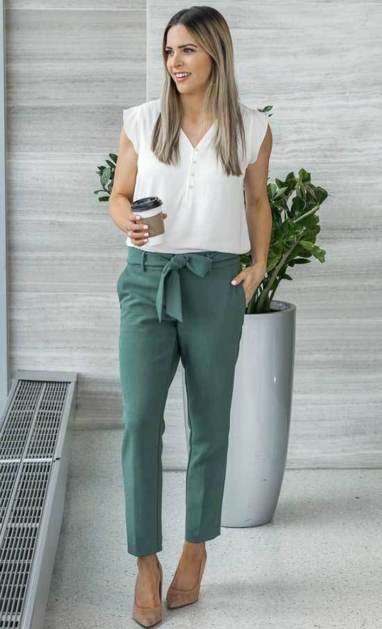 Green Business Casual Outfits