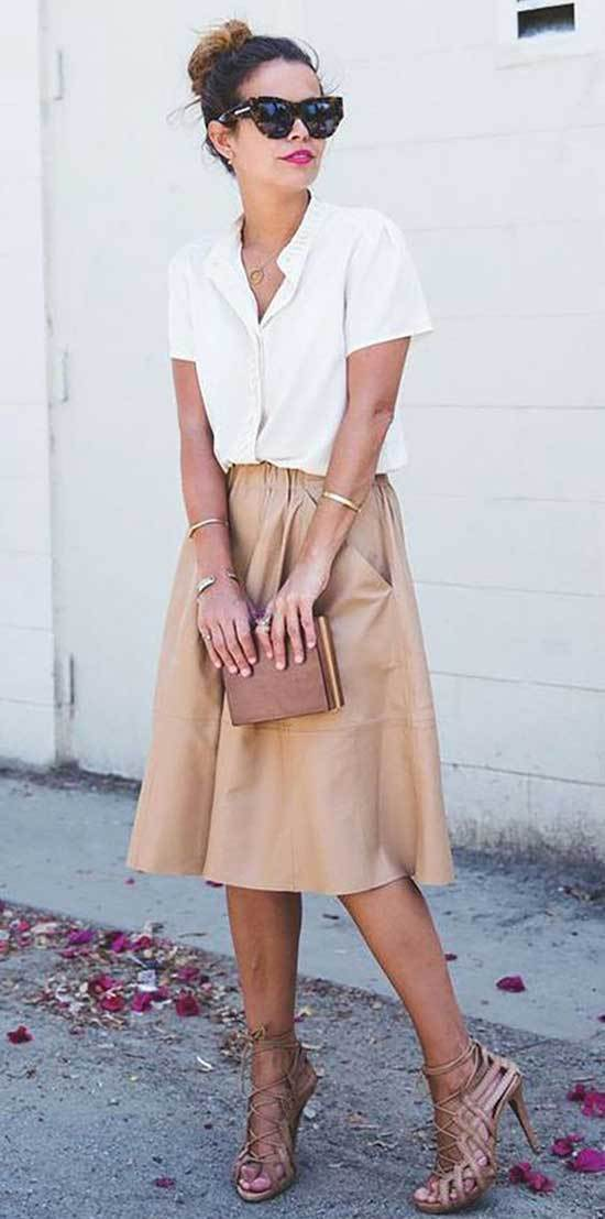 Business Casual Skirt Outfits